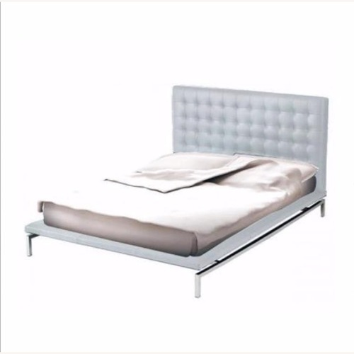 Used Nuevo Living Upholstered White Platform Bed for sale on AptDeco