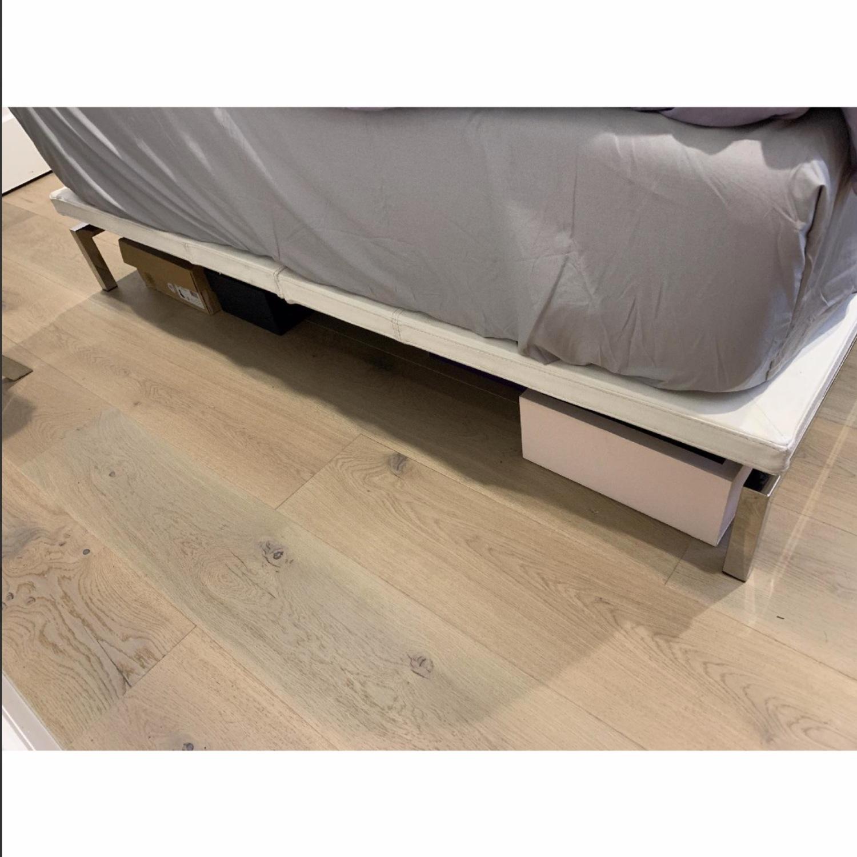 Nuevo Living Upholstered White Platform Bed - image-3