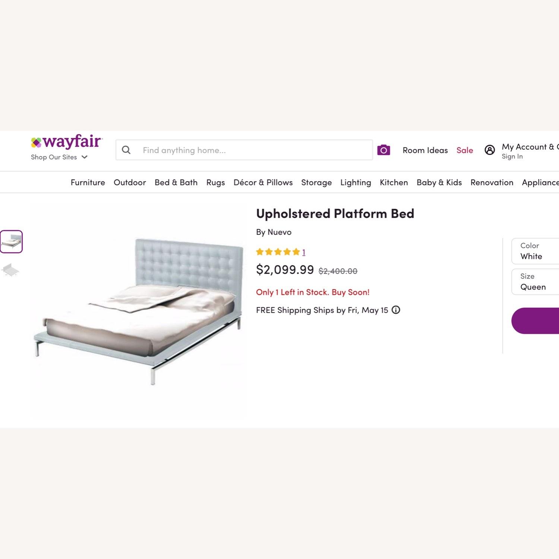 Nuevo Living Upholstered White Platform Bed - image-6