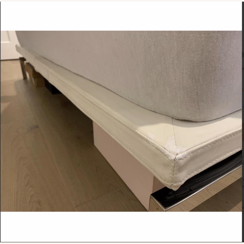 Nuevo Living Upholstered White Platform Bed - image-2