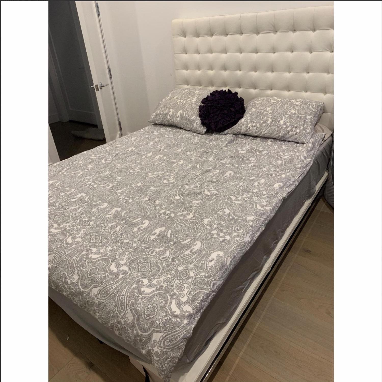 Nuevo Living Upholstered White Platform Bed - image-5