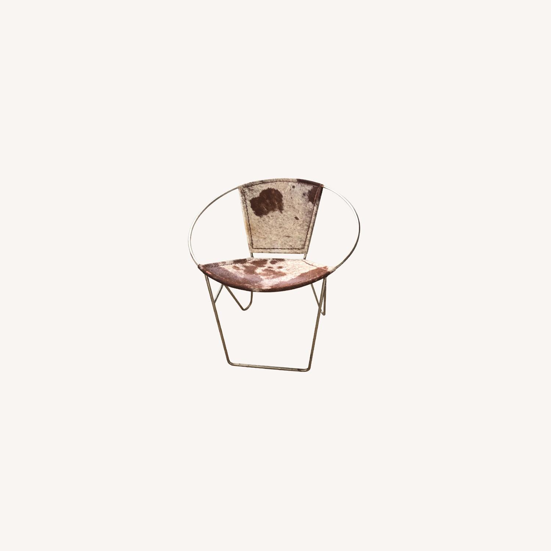 Wayfair Hide Metal Leather Barrel Chair Aptdeco
