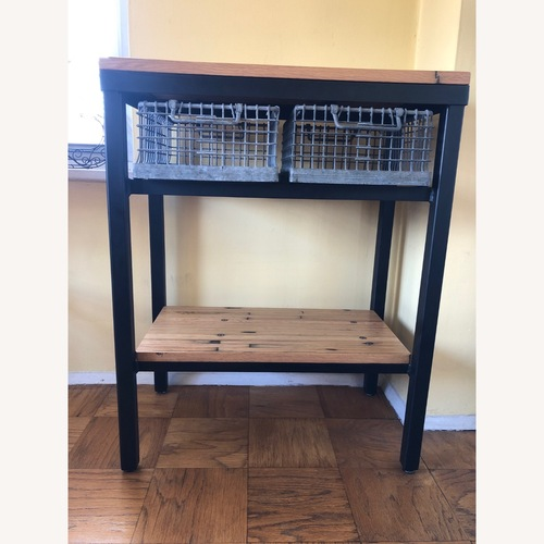 Used Olde Good Things Industrial Wood Console for sale on AptDeco