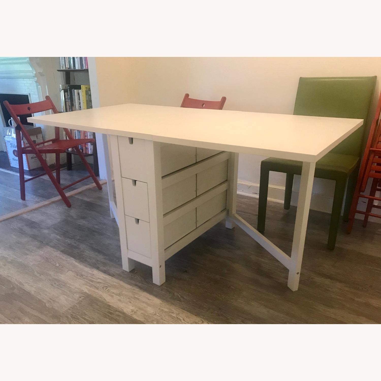 Ikea White Gateleg Table Aptdeco