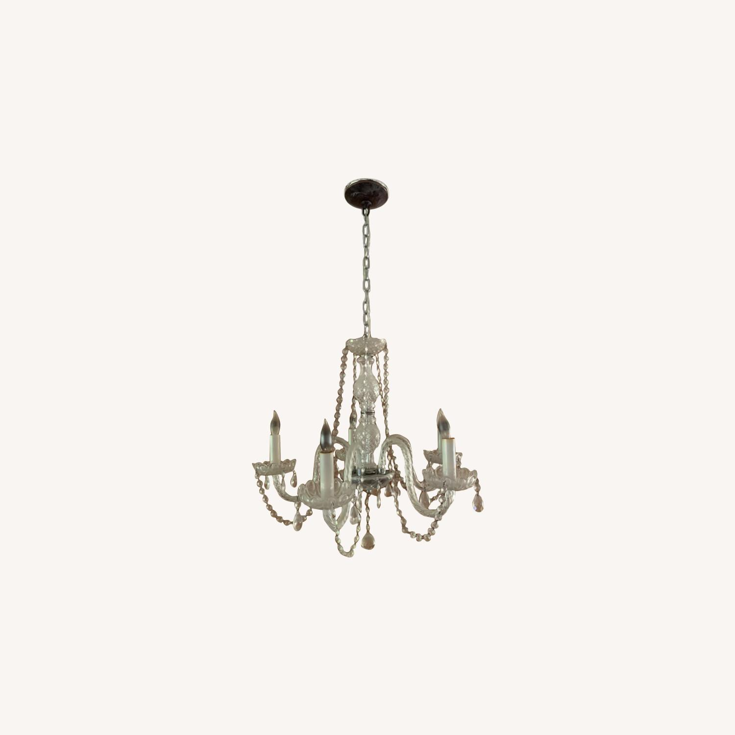 Clear Crystal Glass Chandelier - image-0