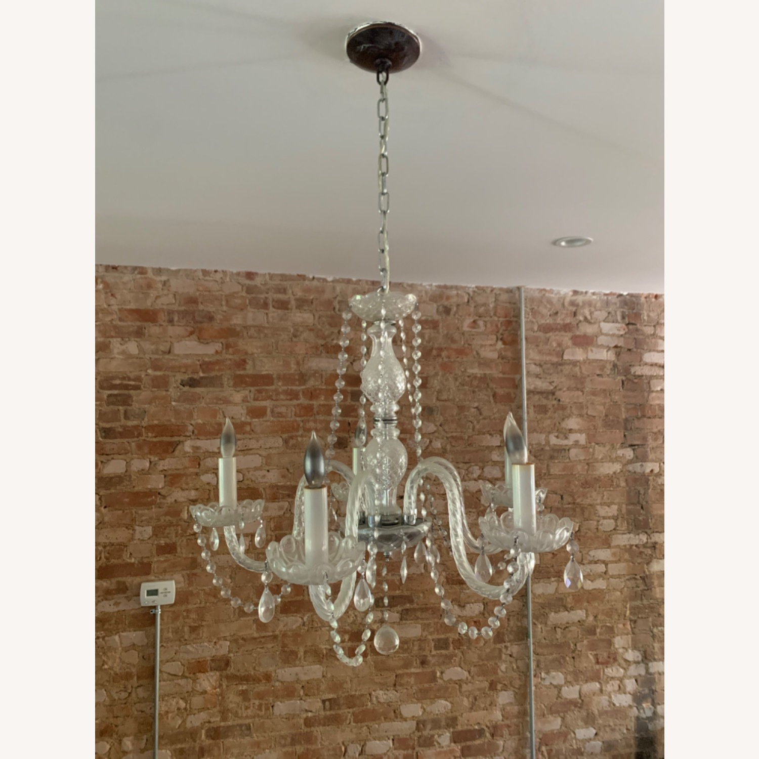 Clear Crystal Glass Chandelier - image-1