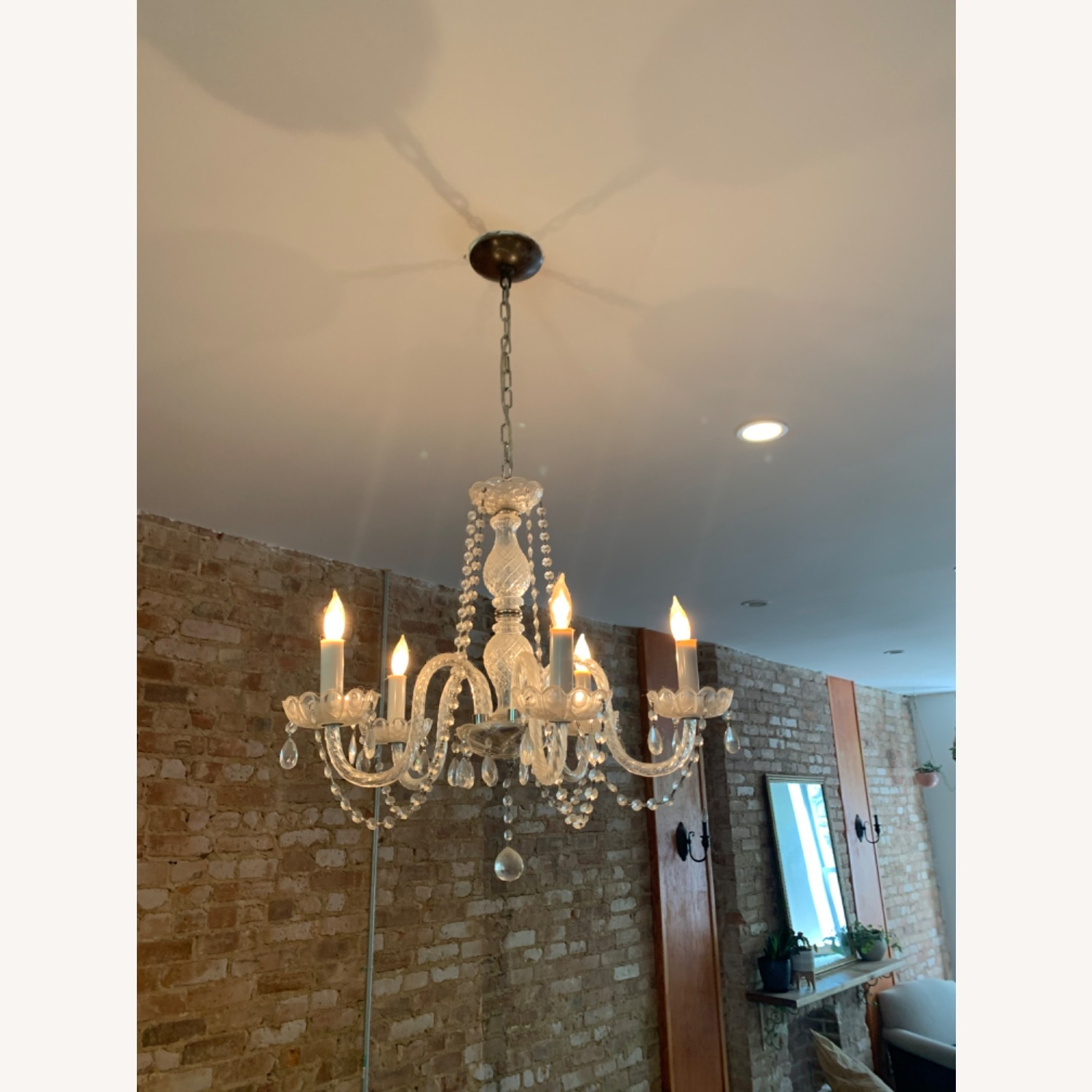 Clear Crystal Glass Chandelier - image-4