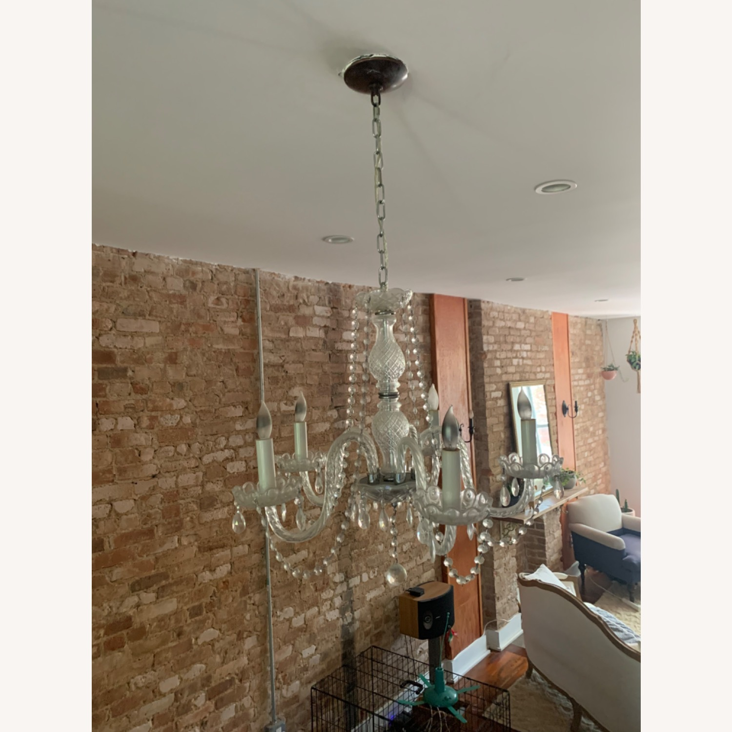 Clear Crystal Glass Chandelier - image-5