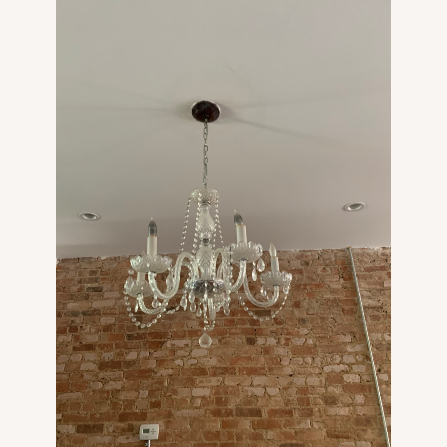 Clear Crystal Glass Chandelier - image-3