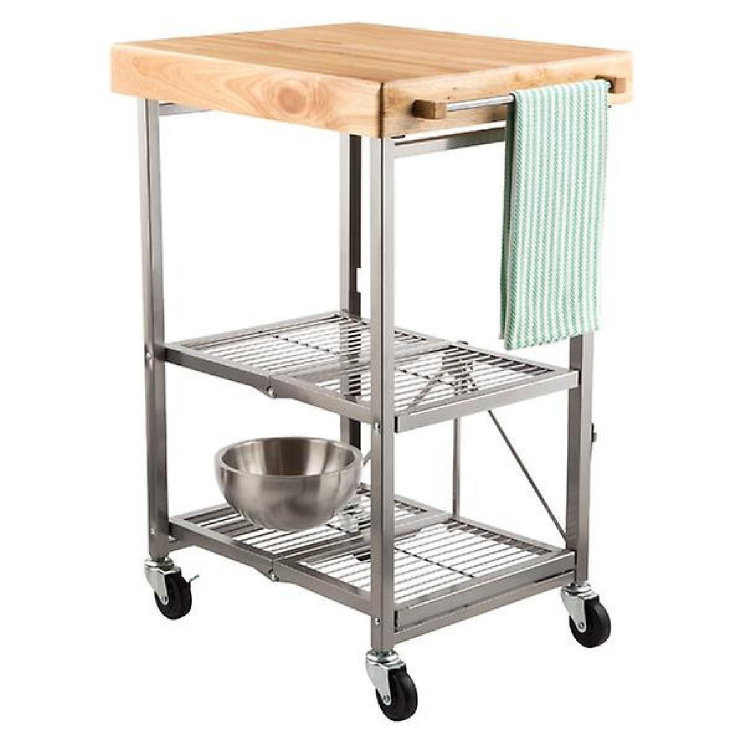 Kitchen Island Cart with Wheels – Origami Rack | 1500x1500