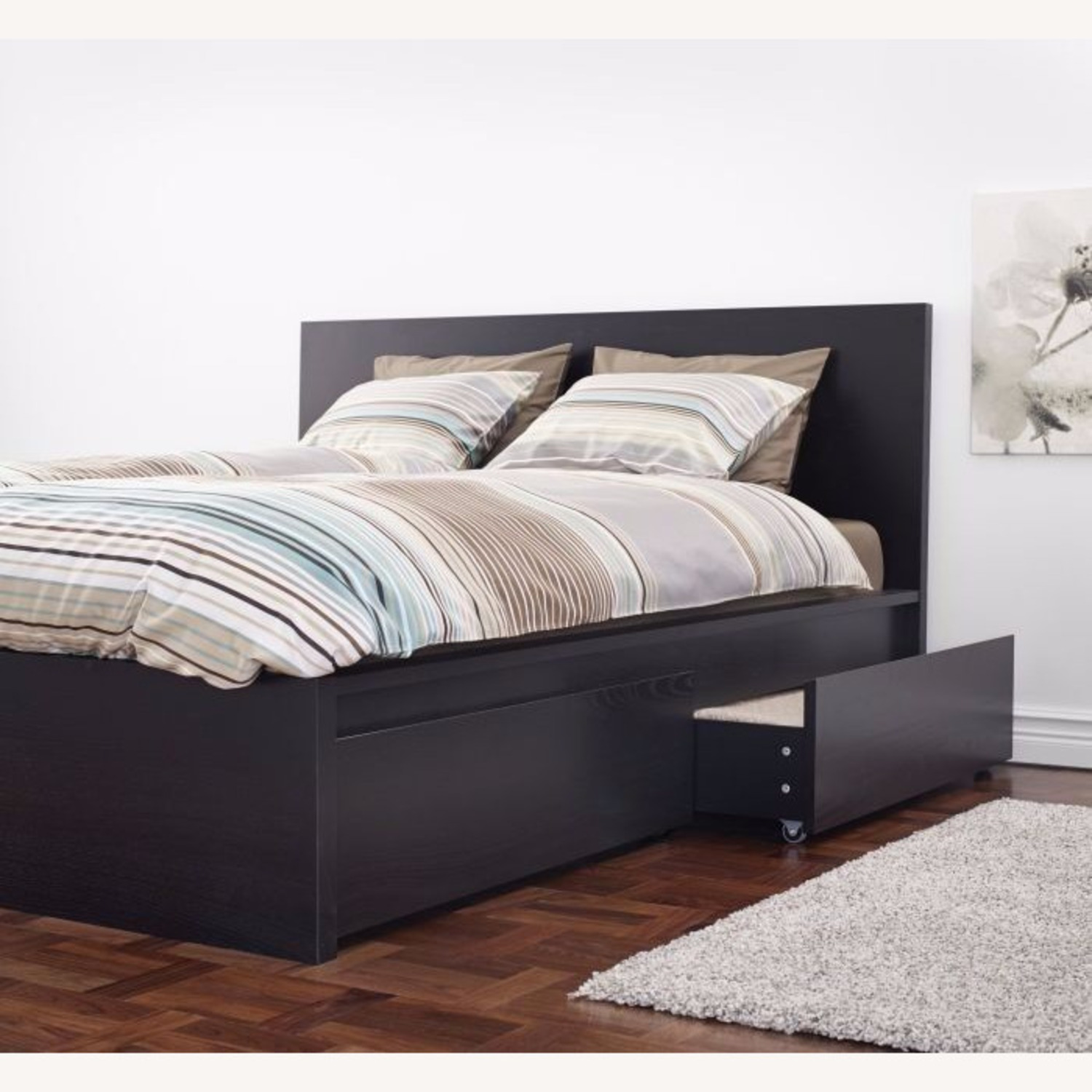 IKEA Malm Queen Bed with Storage - image-0