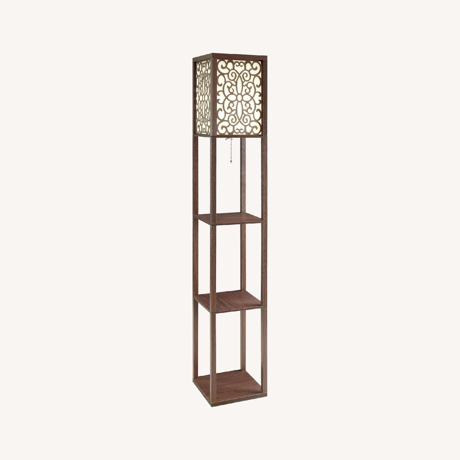 Floor Lamp with Shelves - image-0