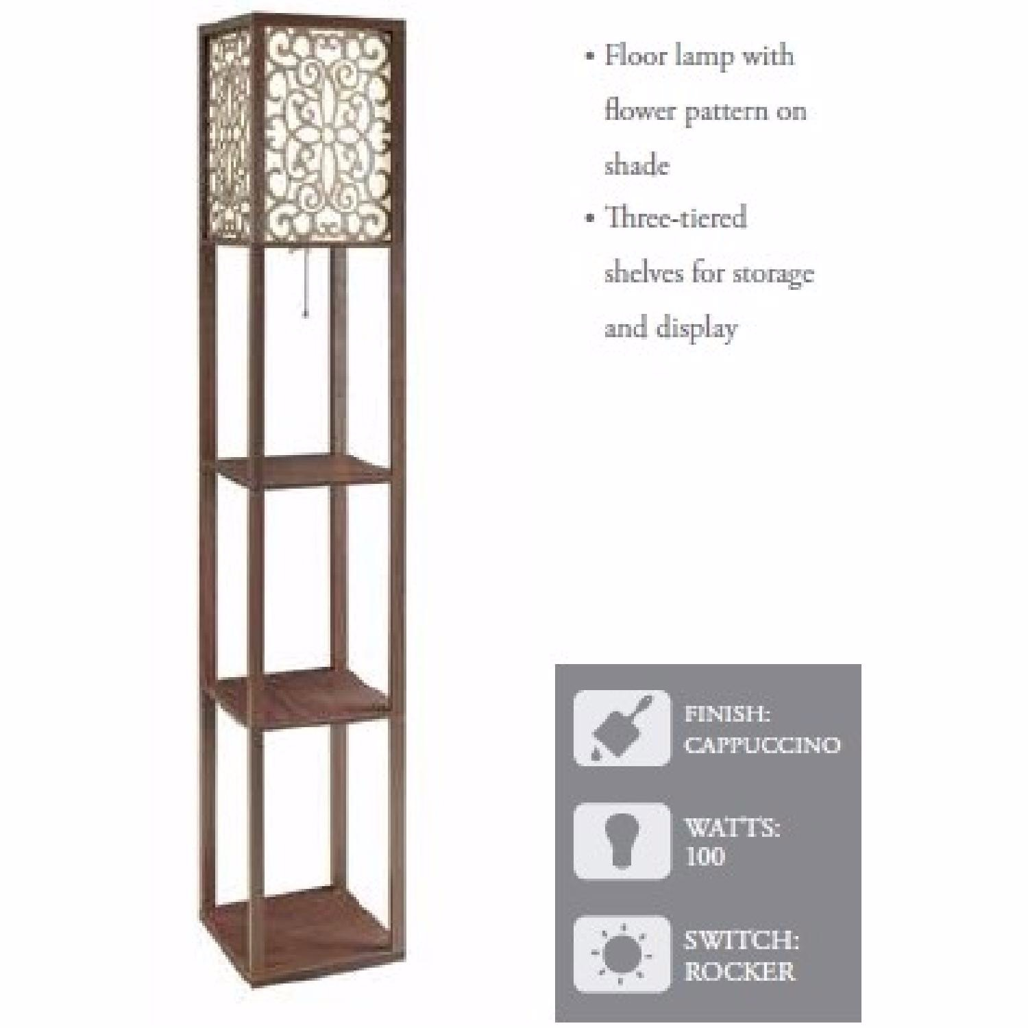 Floor Lamp with Shelves - image-3