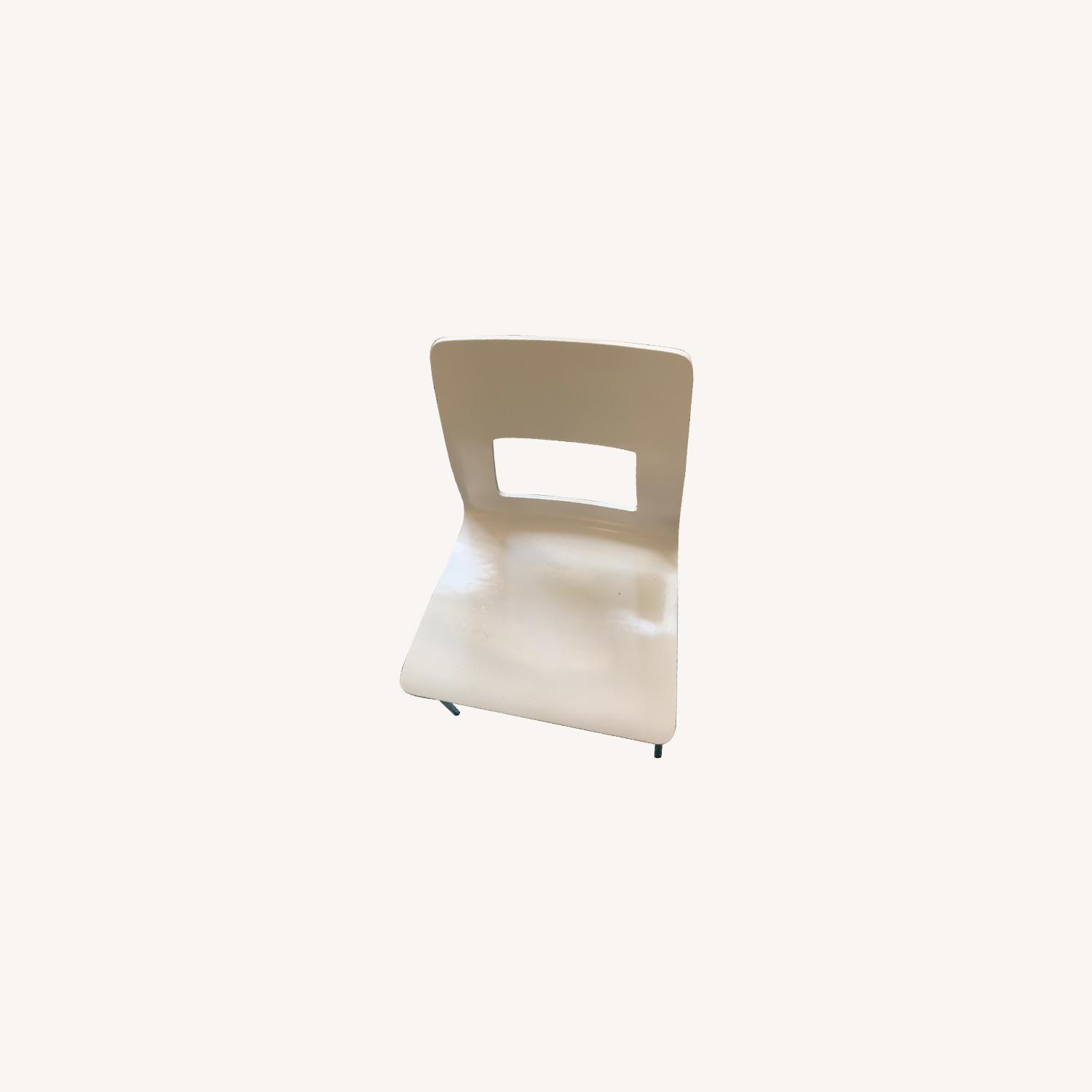CB2 White Dining Chairs (Set of 4) - image-0