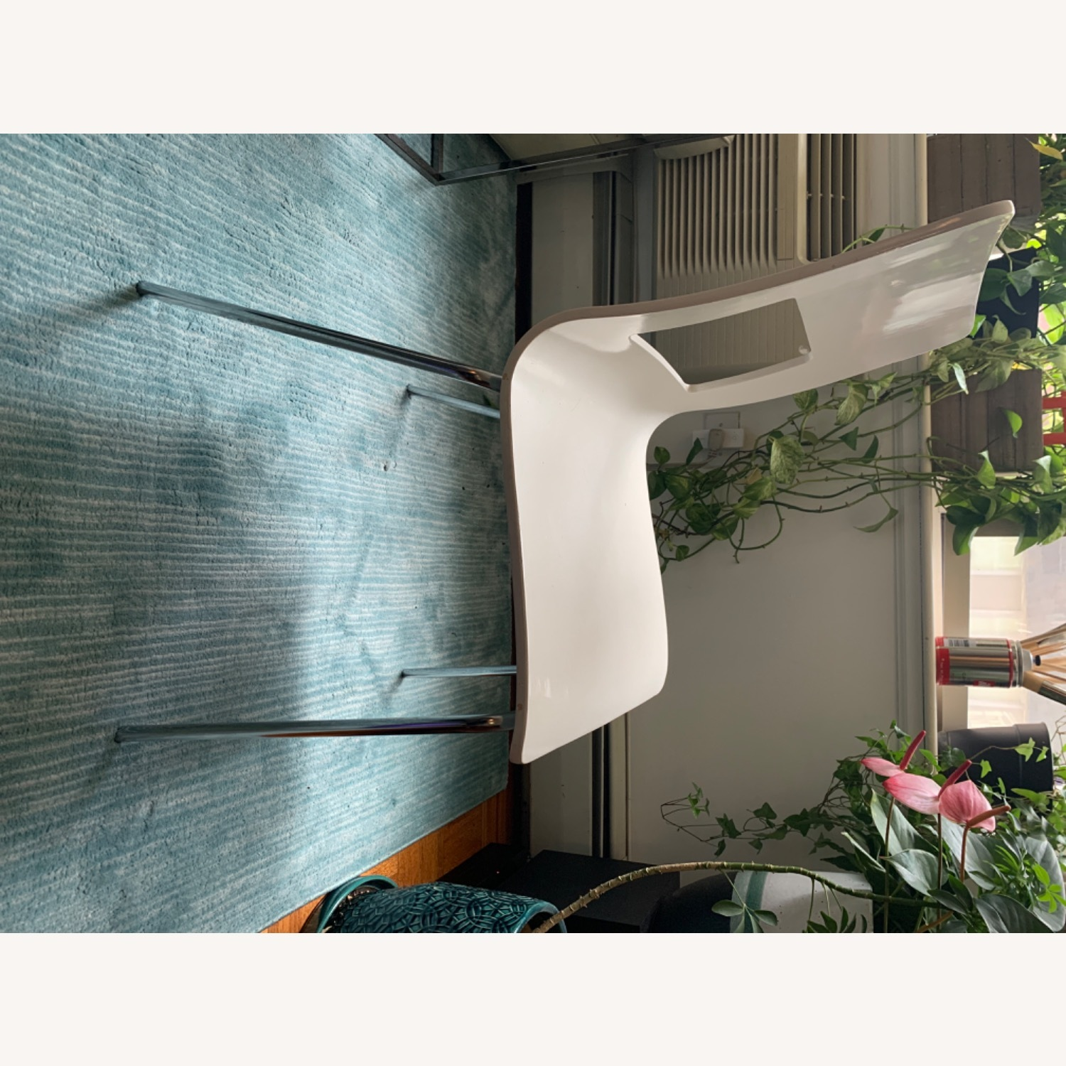 CB2 White Dining Chairs (Set of 4) - image-5
