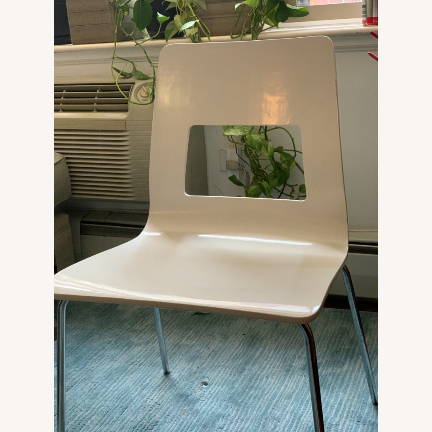CB2 White Dining Chairs (Set of 4) - image-2