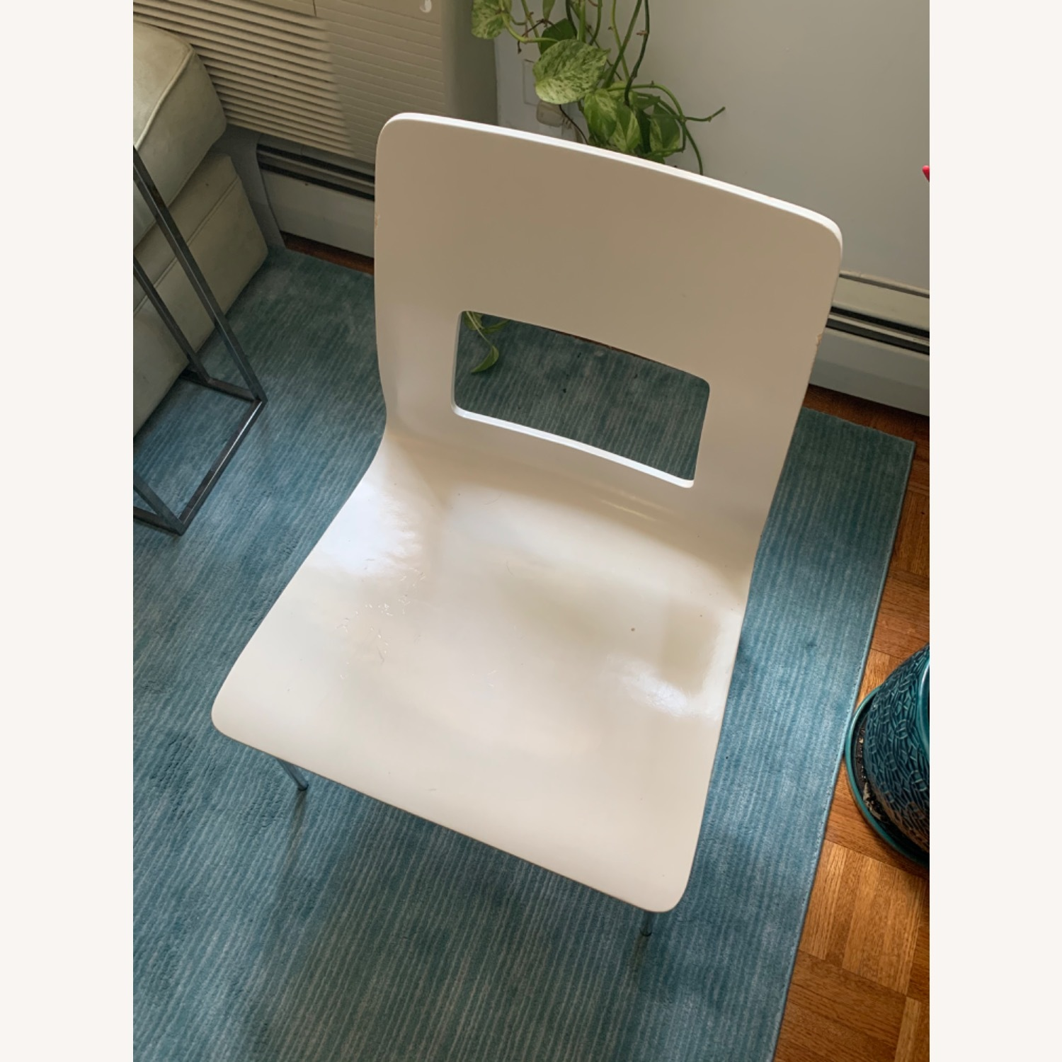 CB2 White Dining Chairs (Set of 4) - image-1