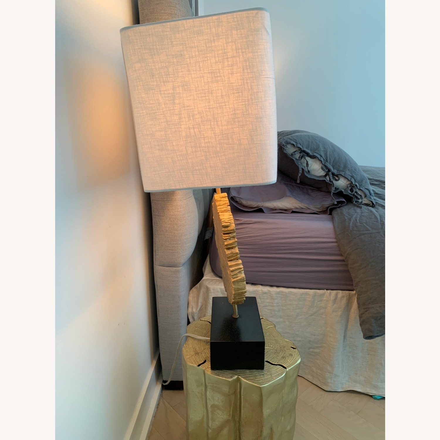 Set of Table Lamps- Black/Gold - image-3