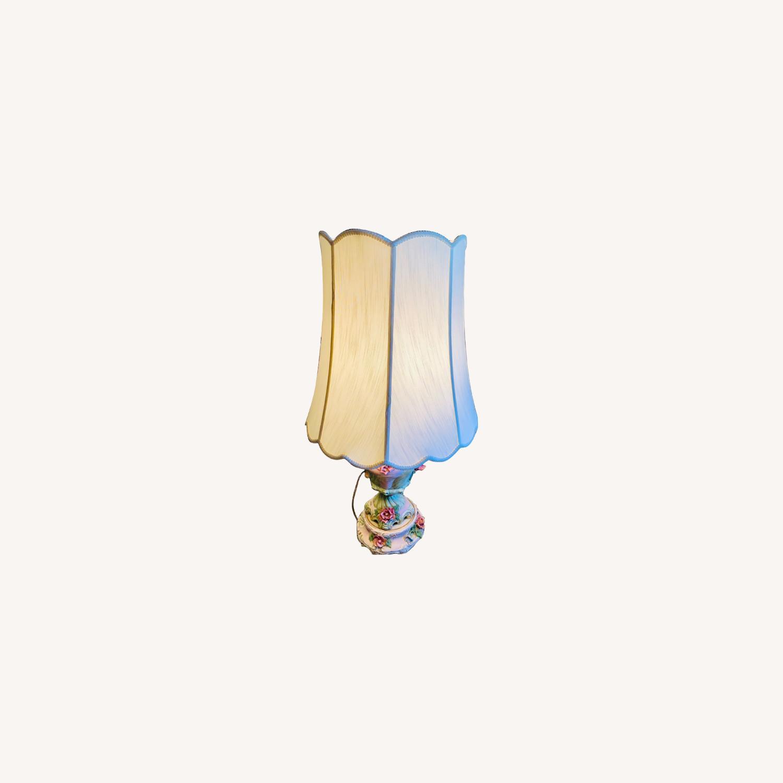 Vintage Ceramic Floral Lamps - image-0