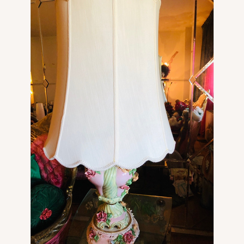 Vintage Ceramic Floral Lamps - image-2