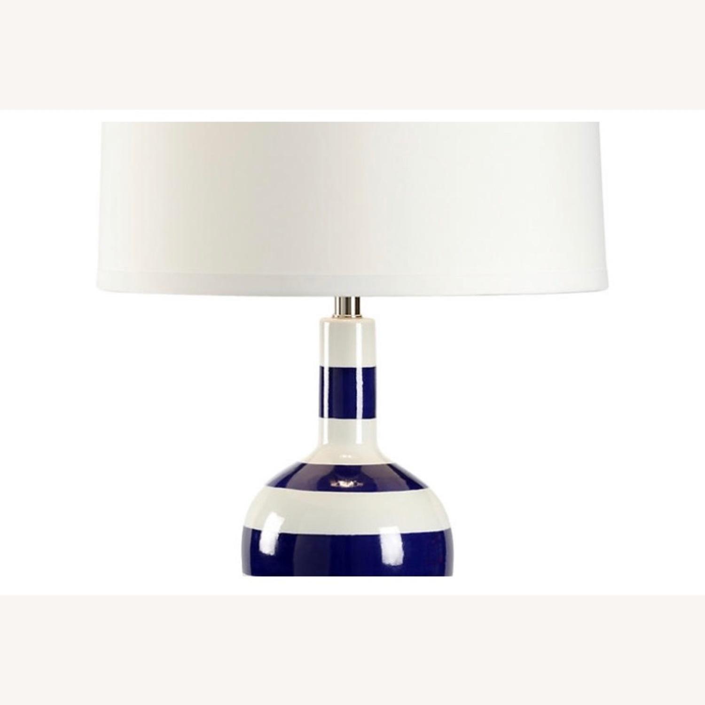 Beach Stripe Porcelain Lamp - image-3
