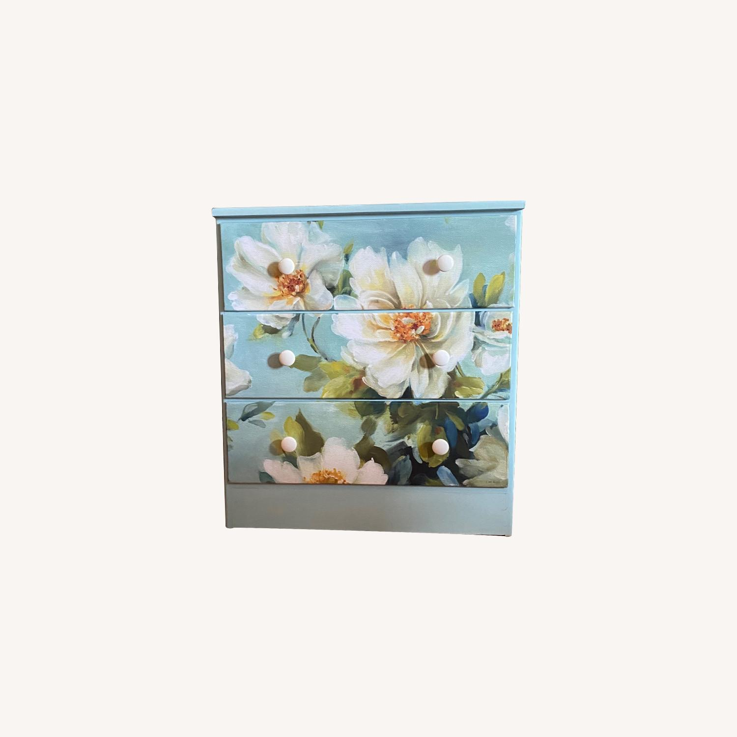 Floral Decoupage Small Dresser - image-0
