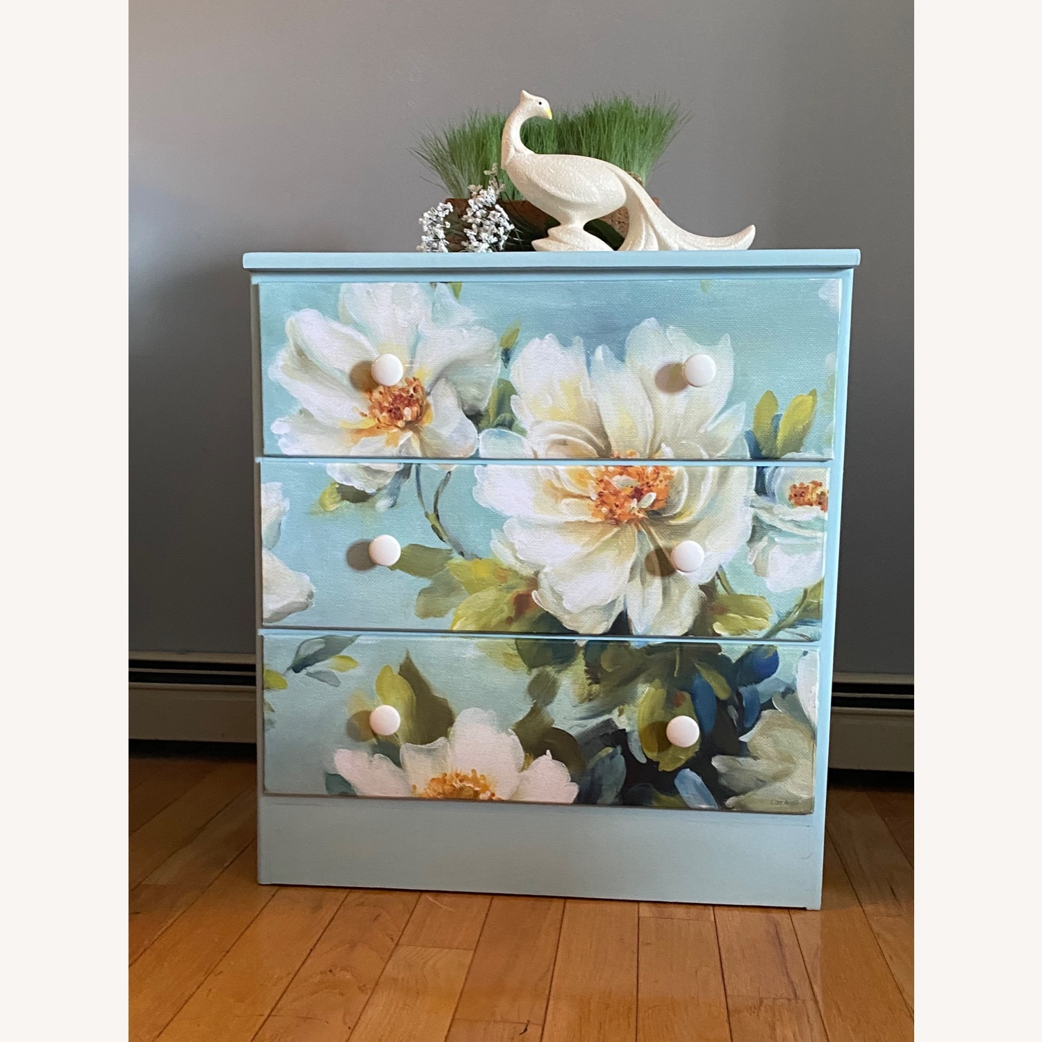 Floral Decoupage Small Dresser - image-1