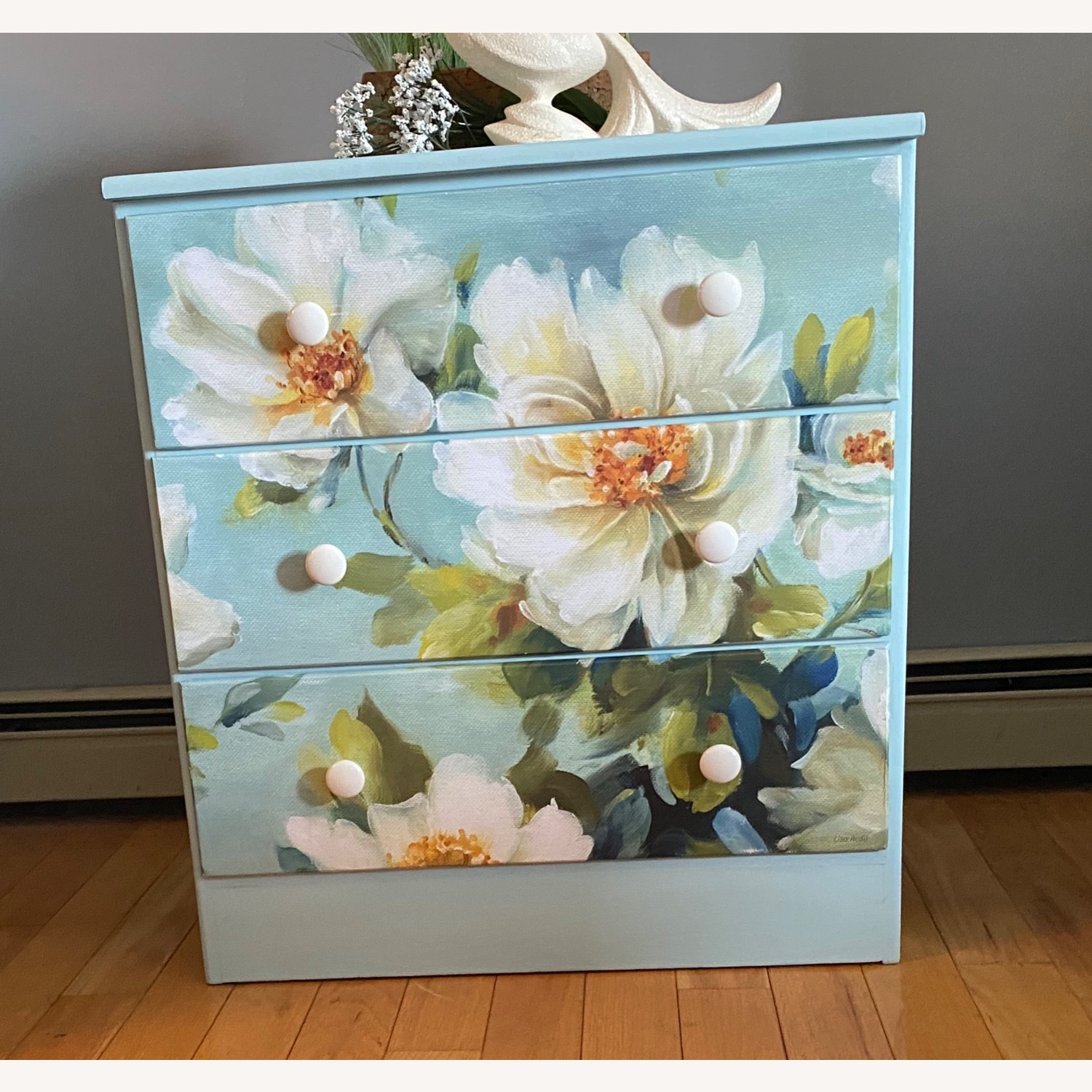 Floral Decoupage Small Dresser - image-2