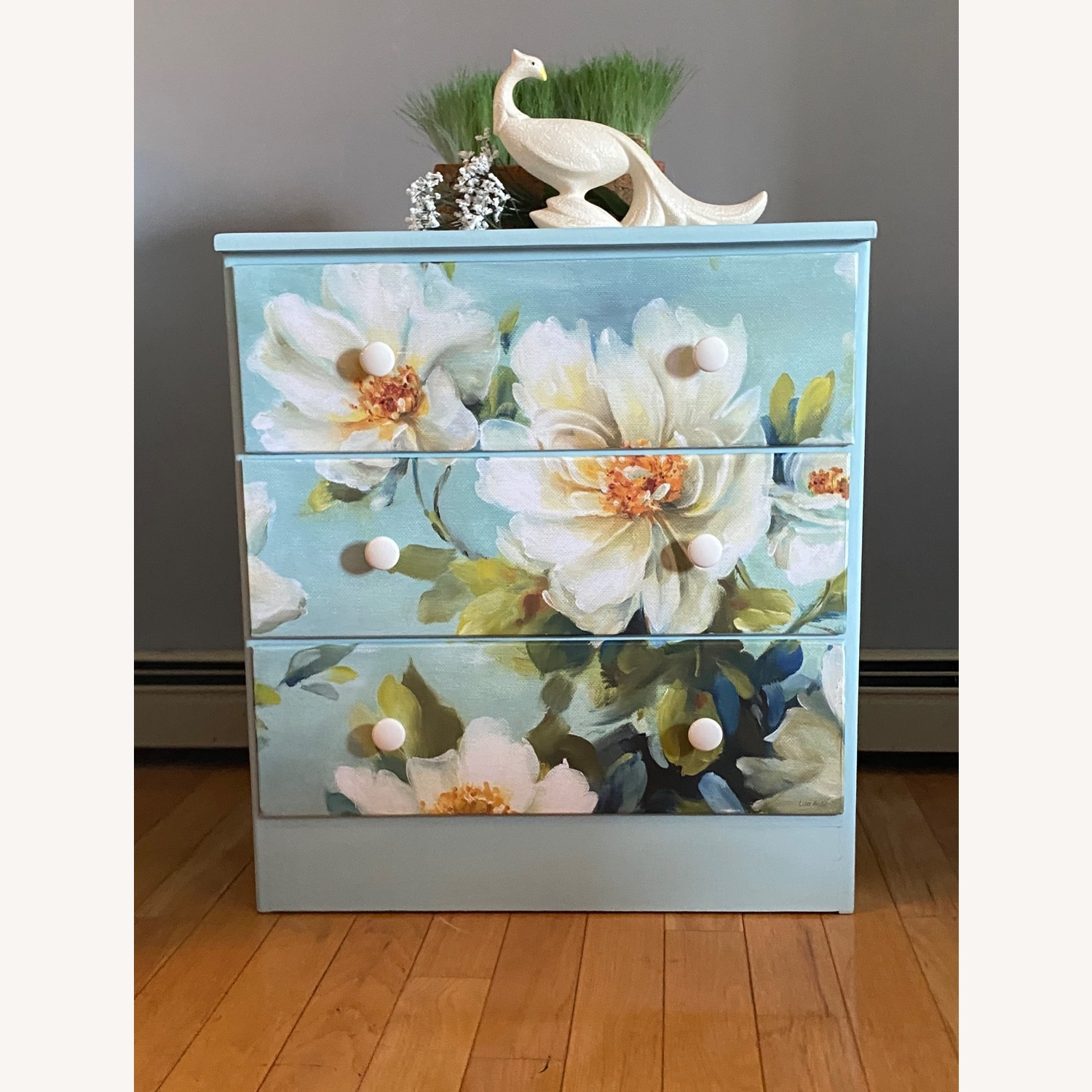 Floral Decoupage Small Dresser - image-4