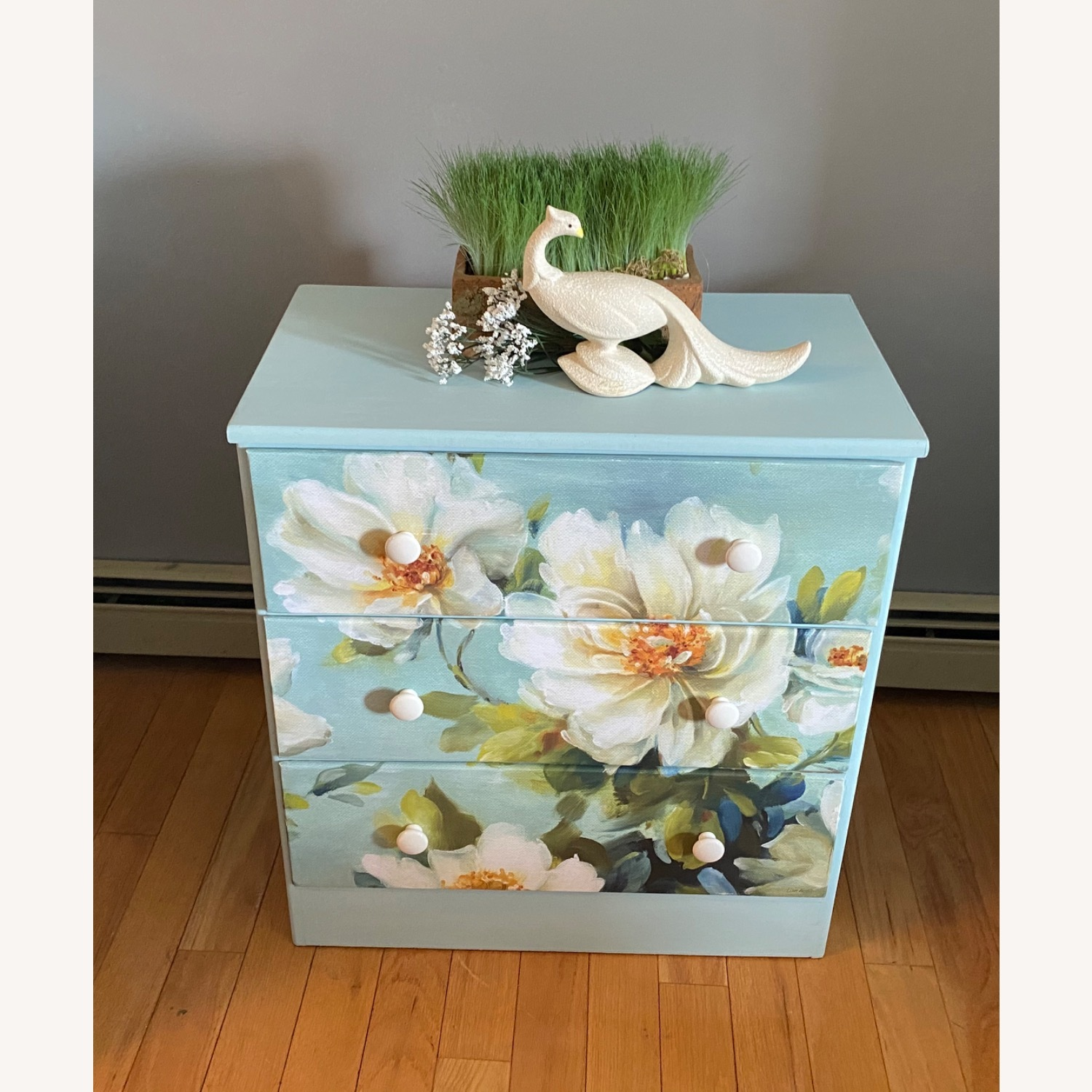 Floral Decoupage Small Dresser - image-5