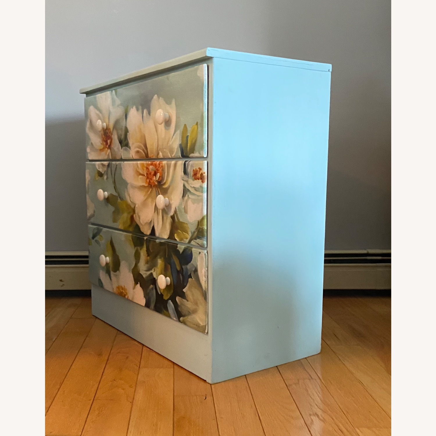 Floral Decoupage Small Dresser - image-3