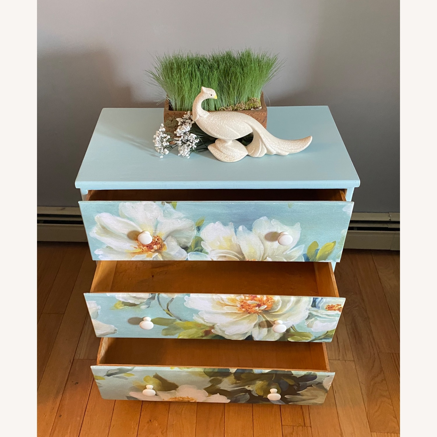 Floral Decoupage Small Dresser - image-6