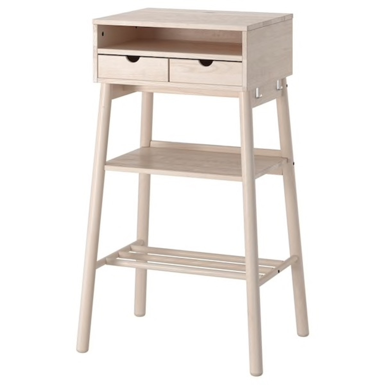 IKEA Standing Desk and Storage Unit - image-1