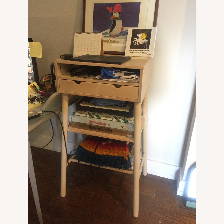 IKEA Standing Desk and Storage Unit - image-2
