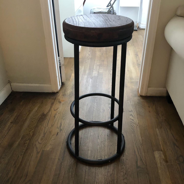 Worn Wood Counter Stool - image-2
