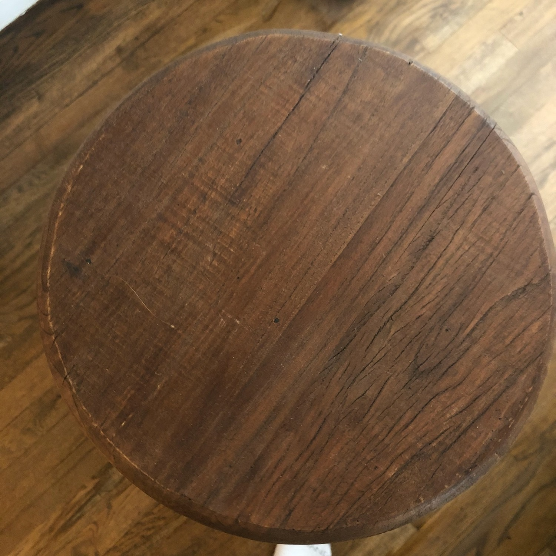 Worn Wood Counter Stool - image-3