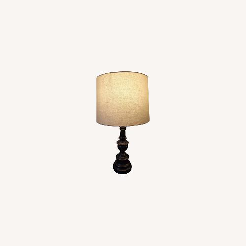 Used Bed Bath & Beyond Classic Elegant Set of Bronze Table Lamps for sale on AptDeco