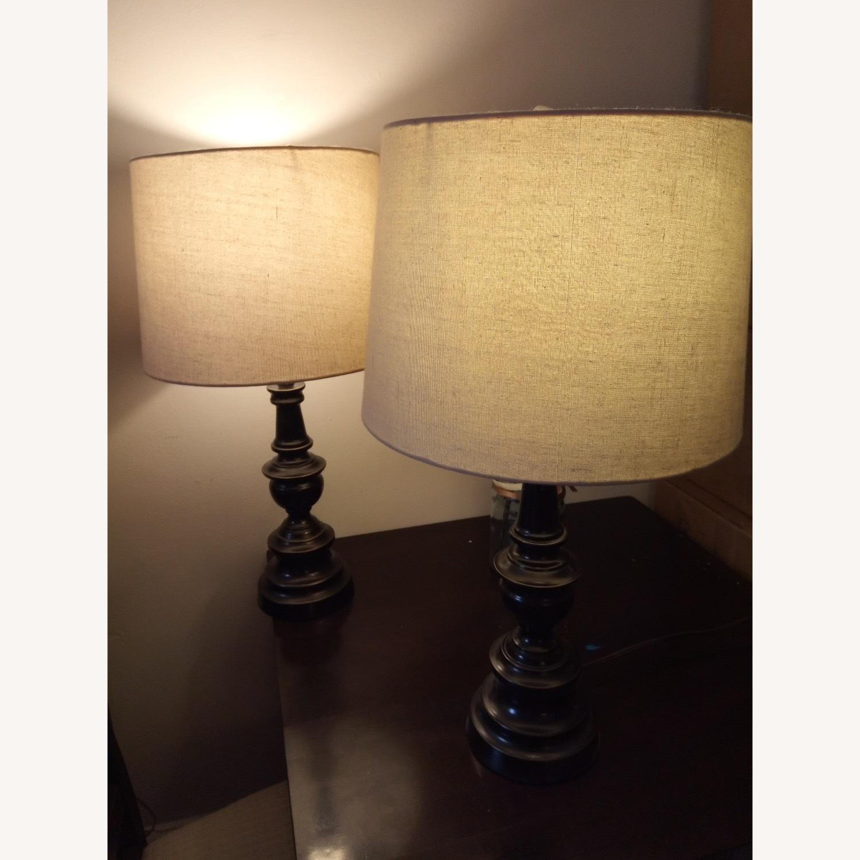 Bed Bath & Beyond Classic Elegant Set of Bronze Table Lamps - image-5