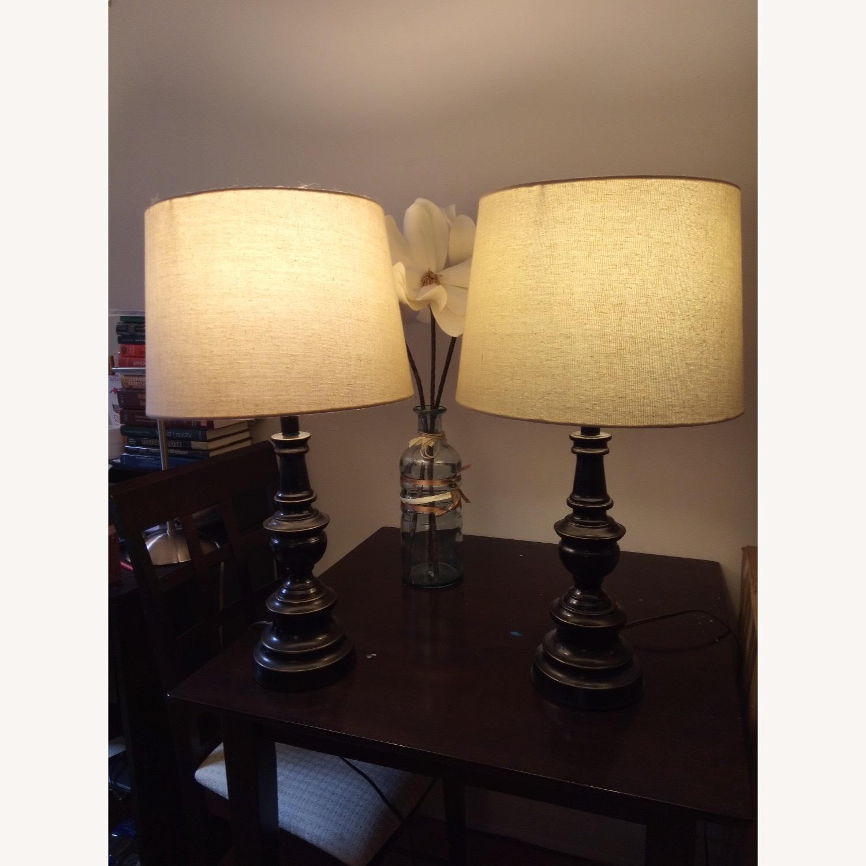 Bed Bath & Beyond Classic Elegant Set of Bronze Table Lamps - image-1