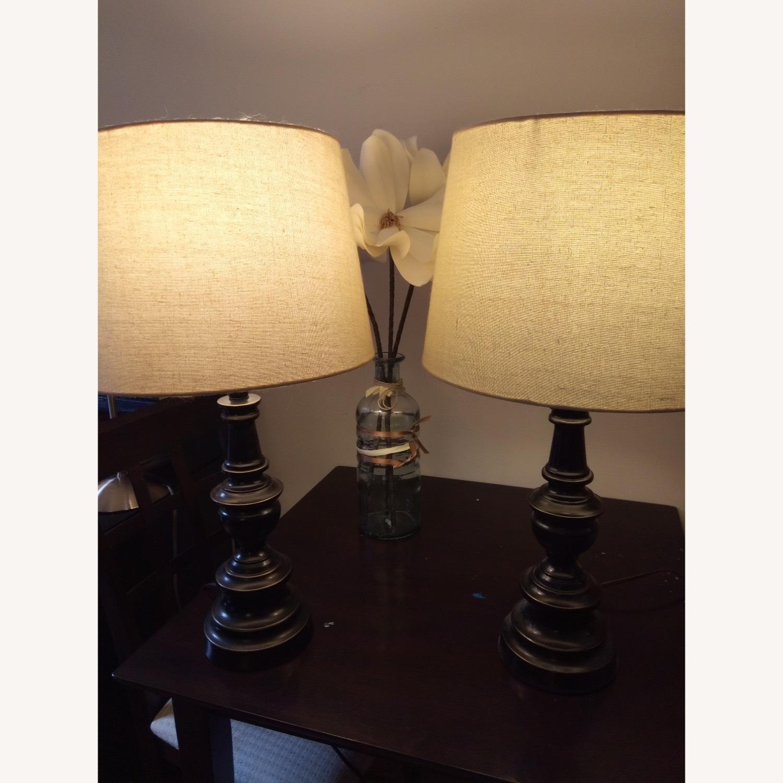 Bed Bath & Beyond Classic Elegant Set of Bronze Table Lamps - image-6
