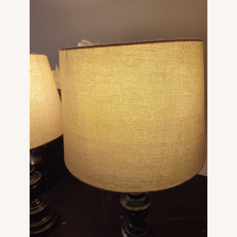 Bed Bath & Beyond Classic Elegant Set of Bronze Table Lamps - image-8
