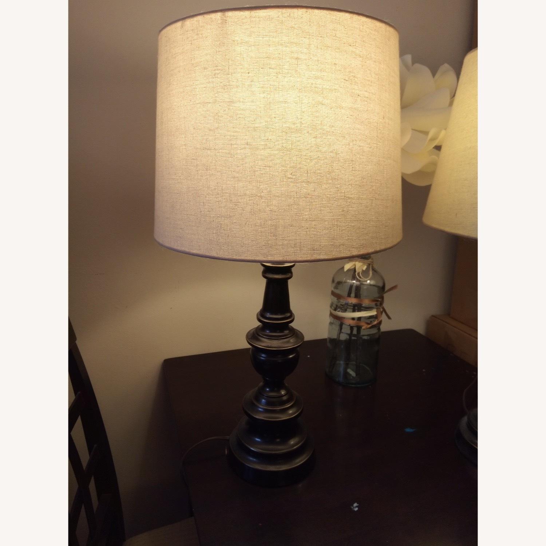 Bed Bath & Beyond Classic Elegant Set of Bronze Table Lamps - image-3