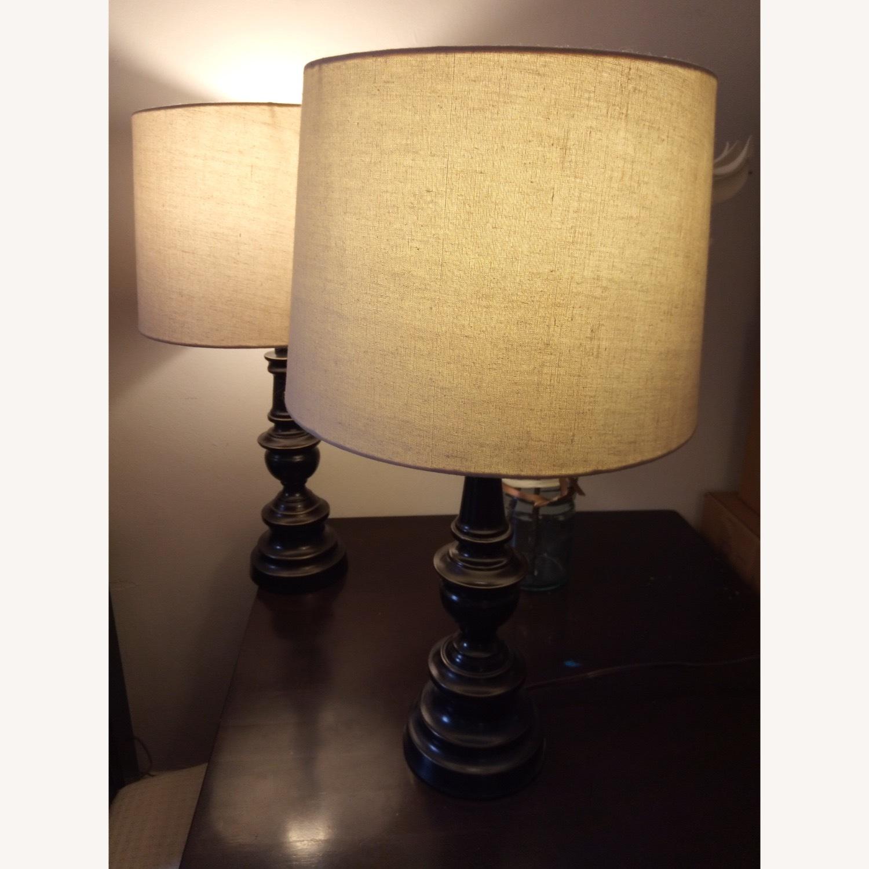 Bed Bath & Beyond Classic Elegant Set of Bronze Table Lamps - image-4