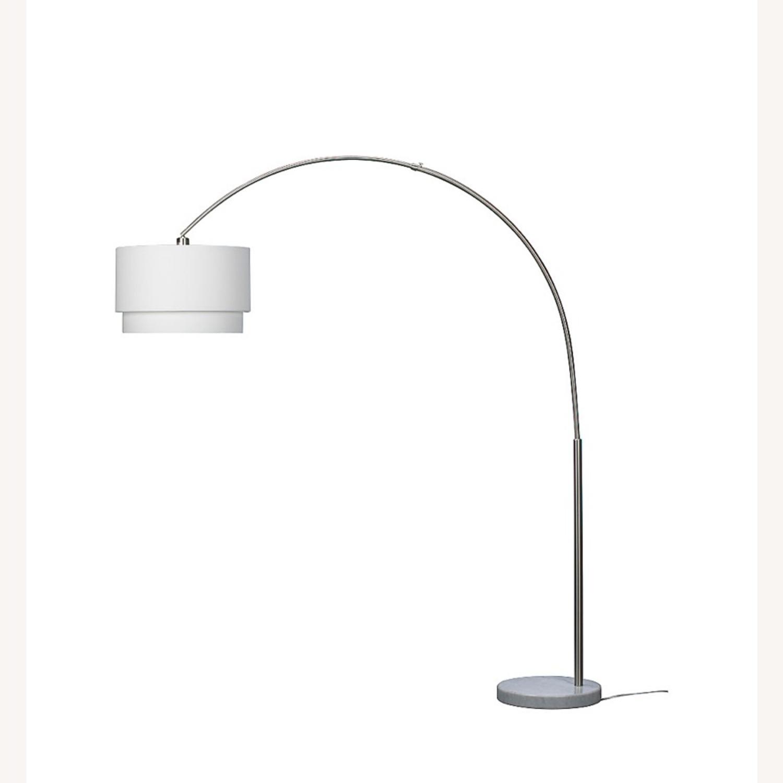 Crate and Barrel Meryl Arc Floor Lamp White - image-5