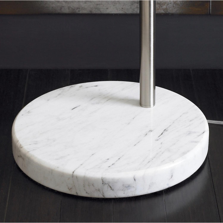 Crate and Barrel Meryl Arc Floor Lamp White - image-3