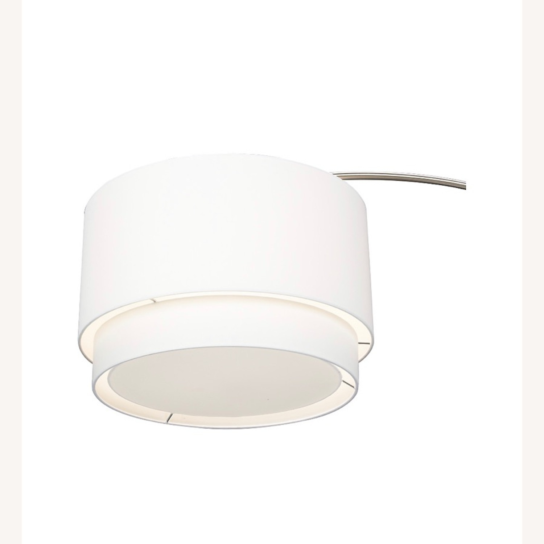 Crate and Barrel Meryl Arc Floor Lamp White - image-6