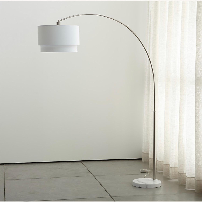 Crate and Barrel Meryl Arc Floor Lamp White - image-2