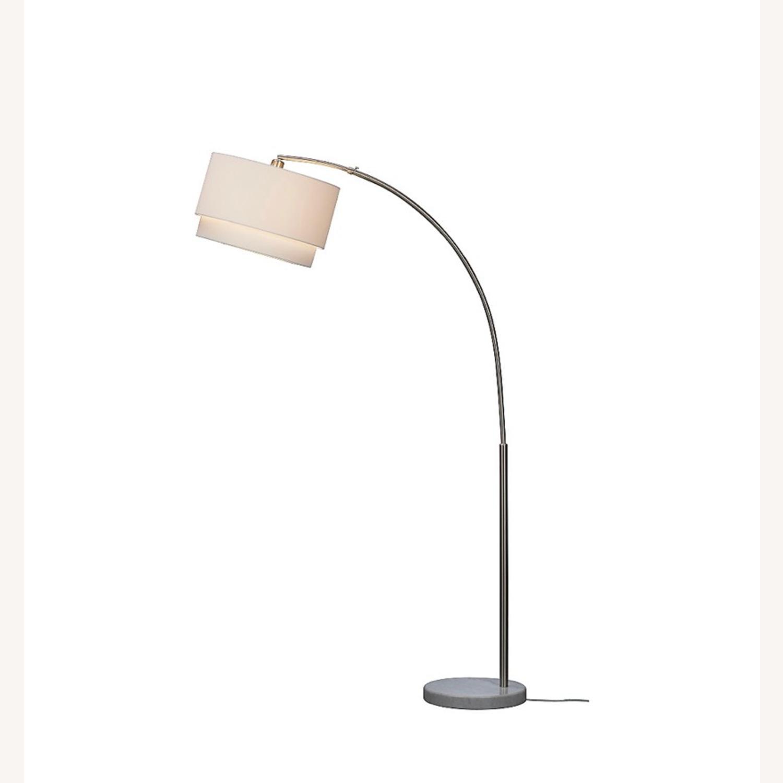 Crate and Barrel Meryl Arc Floor Lamp White - image-4