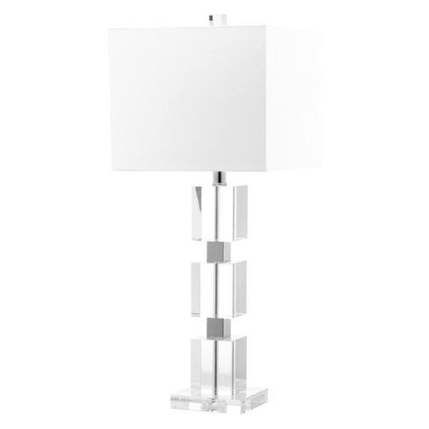 Target Lucite Cube Table Lamp - image-0