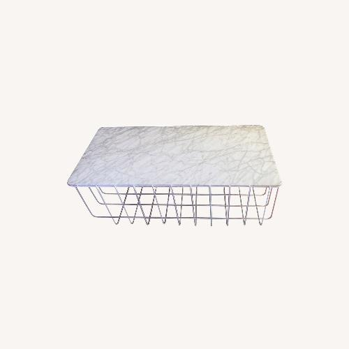 Used Blu Dot White Marble Scamp Coffee Table for sale on AptDeco